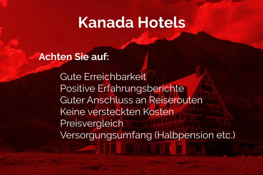 Kanada Hotel Info